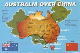 Australia Population Map My Postcards Australia China Map Postcard