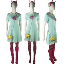 evil woman halloween costume star vs the forces of evil princess star butterfly dress women