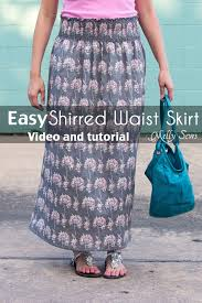 shirring elastic how to sew with elastic thread shirred skirt tutorial melly sews