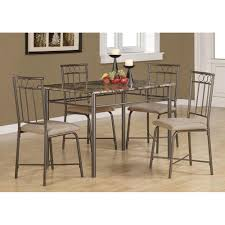 amazon com monarch specialties marble look 5 piece metal dining
