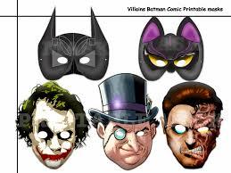 paper halloween mask unique villains the batman comic printable masks diy paper