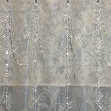 Shower Curtain Beads by Shower Curtains Elegant Double Swag Shower Curtains Inspiring