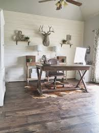 Rustic Home Interior Design by Remodelaholic How To Install A Shiplap Wall Rustic Home Office