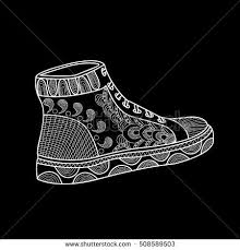 womens shoes beautiful pattern sport shoes stock vector 508589488