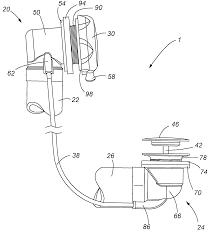 Bathtub Overflow Plate Trip Lever by Patent Us8806671 Cable Actuated Drain Google Patents