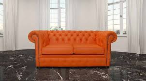 Discount Chesterfield Sofa Buy Orange Leather Chesterfield Sofa At Designersofas4u