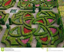 Famous Gardens Formal Garden Loire Valley France Royalty Free Stock
