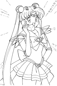 silver moon crystal power kiss super sailor moon coloring pages