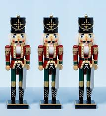 38cm xmas christmas traditional style nutcracker wooden guard