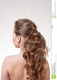 beautiful long wavy hair back view stock photo image 63016561