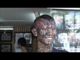 smile tattoo tribal face tattooing toung head body art thailand