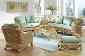 wicker living room chairs rattan living room sets foter with regard to wicker furniture