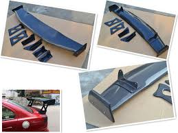 mitsubishi evo spoiler carbon fiber varis style gt spoiler for mitsubishi lancer evo x