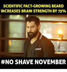 No Beard Meme - scientific fact growing beard increases brain strength by 75 back