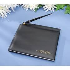 guest book with black pages 50th wedding anniversary guest book with pen
