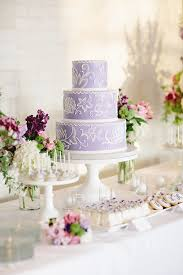 wedding cake lavender lavender and white wedding cake