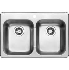 blanco 401250 horizon 2 double bowl drop in stainless steel