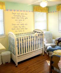 Cool White Baby Boy Bedroom Theme Ideas With Striped Light Blue - Baby boy bedroom paint ideas