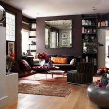black wall color for charming living room interior design with