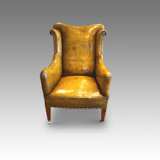 Leather Reading Chair Edwardian Leather Reading Easy Chair Hingstons Antiques Dealers