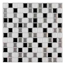 kitchen wall tile backsplash ecoart mosaic peel and stick tile backsplash for