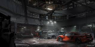 the crew ubisoft garage interior design by scribblepadstudios scribblepadstudios the crew ubisoft garage interior design by scribblepadstudios