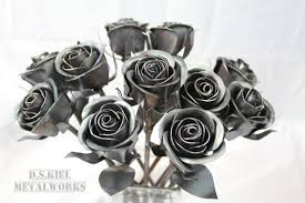 11th anniversary gifts for 11th anniversary gift 11 steel roses metal bouquet