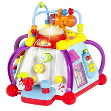baby toys with lights and sound amazon com 15 in 1 musical activity cube educational game play