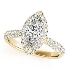 marquise halo engagement ring marquise halo engagement ring 14k yellow gold 2 00ct allurez