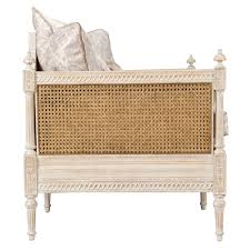 french cane sofa daybed vintage french
