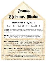 German Christmas Village Decorations by German Christmas Market U2013 The United Church Of Clinton