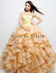 applique lace yellow organza floor length indian debutante gowns