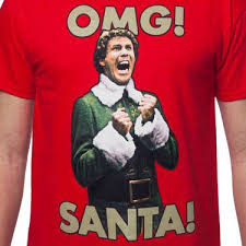 omg santa i know him elf t shirt christmas movie elf t shirt