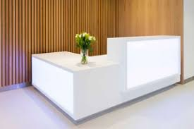 Corian Reception Desks Counters and Tables  Unique Fabrications