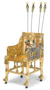 Egyptian Chair Egyptian Revival Polychrome And Giltwood Replica Of King