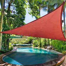 16 5 u0027 triangle sun shade sail yard canopy patio garden uv blocking
