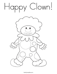 clown coloring page twisty noodle
