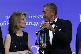 obama accepts jfk profile in courage award the boston globe