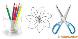 fiori disegni 81 sagome di fiori da colorare e ritagliare per bambini