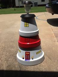 Decorating Clay Pots Kids 20 Best Clay Pot Lighthouses Made In Vt Images On Pinterest Clay