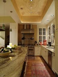 Ceiling Treatment Ideas by White Granite Countertops Look Austin Traditional Kitchen