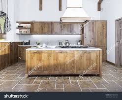 style cuisine modern kitchen loft style cuisine island ภาพประกอบสต อก 397682956