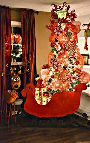 tree deco mesh sleigh decorations