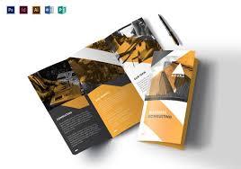 free tri fold business brochure templates tri fold brochure templates 50 free psd ai vector eps format