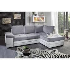 canapé microfibre gris clair blanc angle droit achat vente