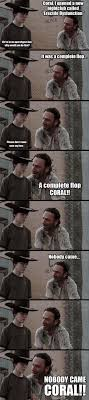 Coral Meme - 31 of the best dad jokes told by walking dead s rick grimes thechive