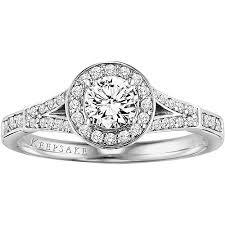 engagement ring walmart keepsake shooting 3 4 carat t w certified 10kt white