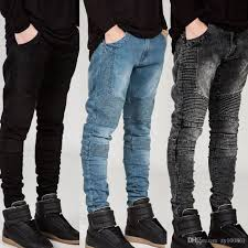 biker pants 2017 european biker tide brand locomotive pants fold self