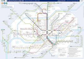 Metro Map Pdf by Germany Frankfurt Metro Mapa Metro