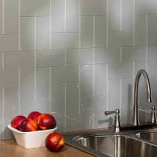 Aspect X Glass Backsplash Tile In Steel - Aspect backsplash tiles